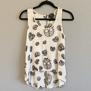 Midnight Hour sz Small embroidered skull tank top
